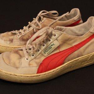 A Pair of Martina Navratilova Game-Used Custom Puma Tennis Shoes.  1984.  Excellent Provenance.