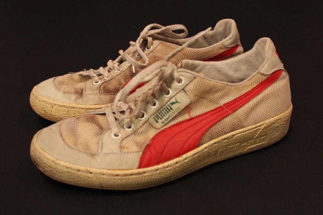 site réputé 742a4 090bc A Pair of Martina Navratilova Game-Used Custom Puma Tennis Shoes. 1984.  Excellent Provenance.