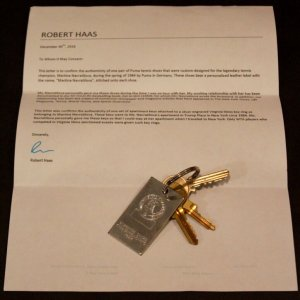 A Set of Martina Navratilova's Personal Keys to her Apartment at Trump Plaza.  1984.  Excellent Provenance.