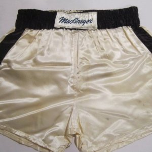 1981 Muhammad Ali Training Worn Boxing Trunks - vs. Trevor Berbick Bout - 100% Team LOA Graded 17/20