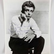 James Dean Signed Photo Inscribed From Rebel Without a Cause (Orginal)- JSA Full Letter