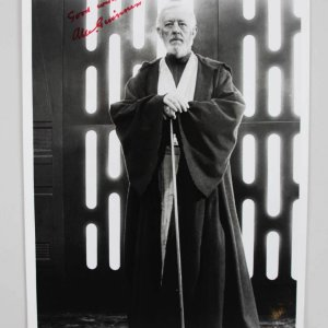 Star Wars Alec Guinness Photo Signed & Inscribed Best Wishes - JSA Full LOA