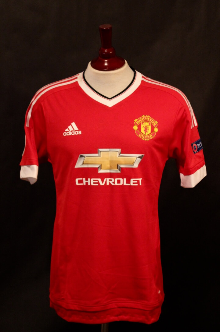 A Wayne Rooney Game-Used  10 Manchester United Home Shirt. 2015 16 UEFA  Champions League. 32cf0b046