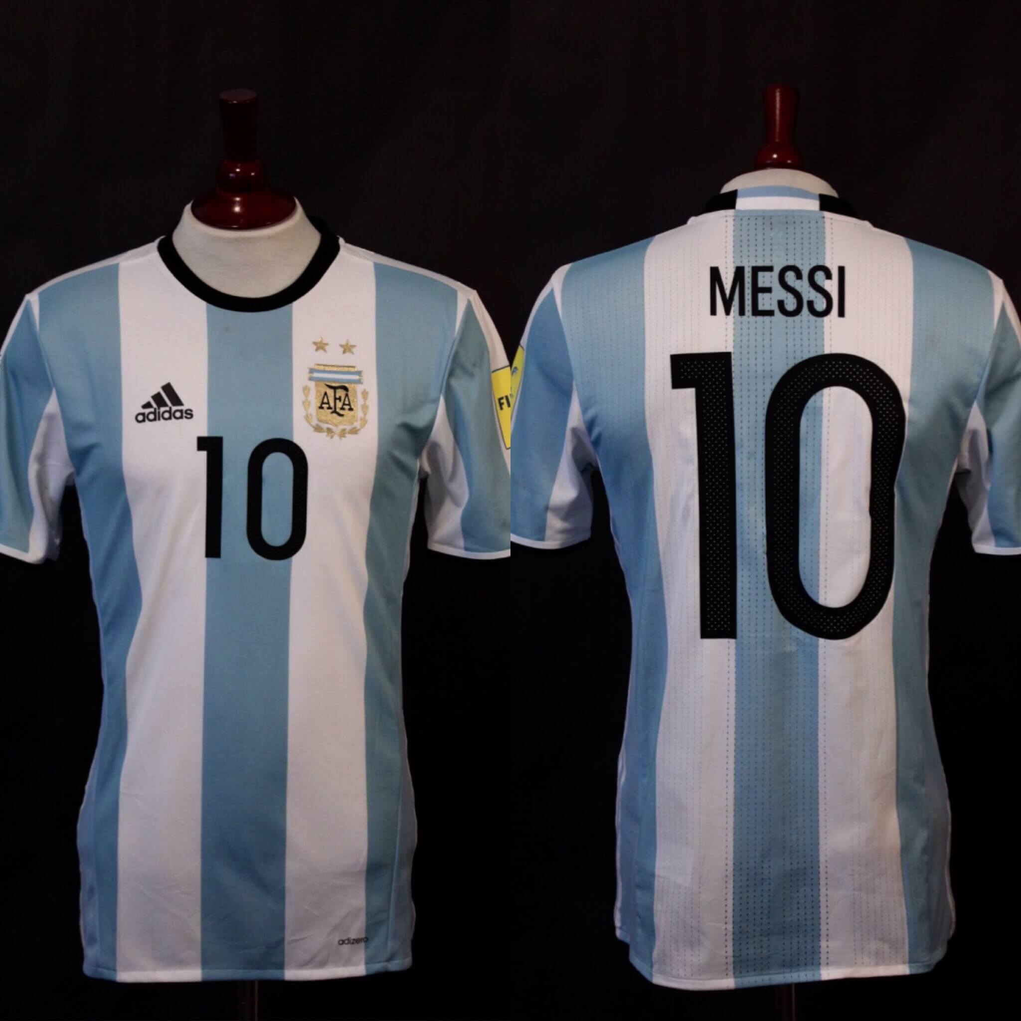 7fbfb66d3 A Lionel Messi Game-Used  10 Argentina National Team Home Shirt. 2018 FIFA  World Cup Qualifiers CONMEBOL.