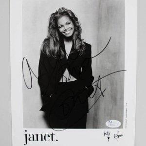 Janet Jackson Signed 8x10 Photo - COA JSA