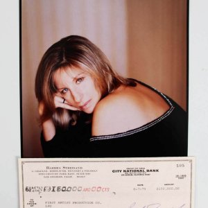 Barbra Streisand Signed Personal Check - PSA/DNA