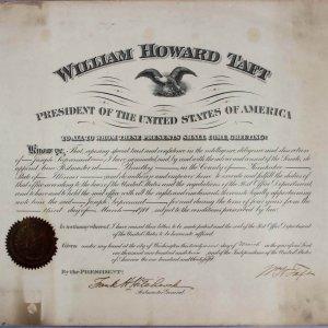 1911 William Howard Taft Signed Presidential Commission Document - JSA