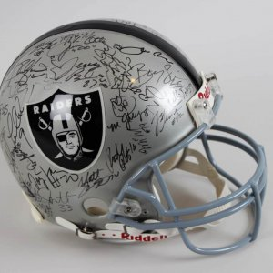 Oakland Raiders Multi-Signed Helmet (Full Size) - 50+ Sigs. JSA Full LOA