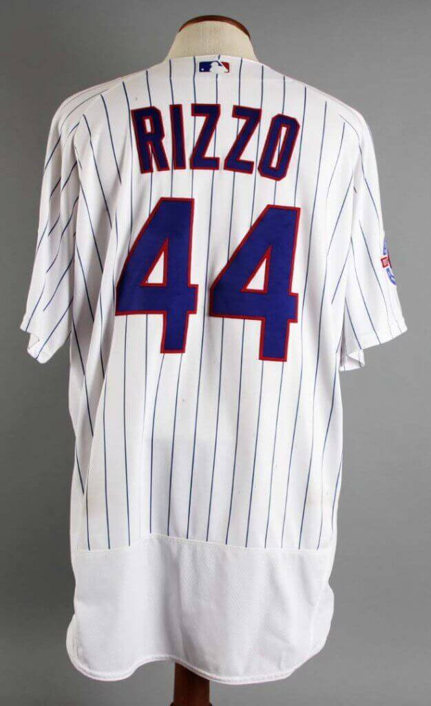 best service 3133f 9ce39 2016 Anthony Rizzo Game-Worn Chicago Cubs Jersey vs. Cardinals 9/23 (World  Series Year)