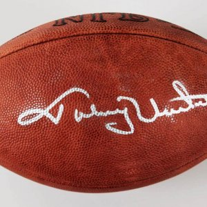 Johnny Unitas Signed Official Tagliabu NFL Football