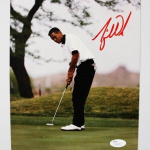 Tiger Woods Rookie Vintage Signed 8x10 RARE!  Photo - JSA Full LOA