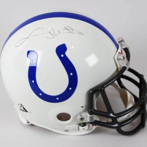 Colts Johnny Unitas Signed Authentic Riddell Football FS Helmet JSA