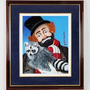 "Red Skelton Signed ""Freddie with Raccoon"" 16x20 LE #281/999 Litho"