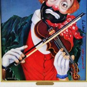 "Red Skelton Signed ""Maestro"" 14x18 Canvas Art"