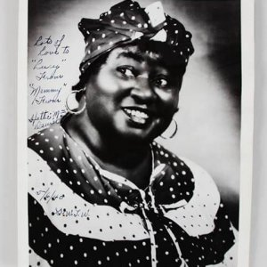 Hattie McDaniel Signed 8x10 Photo Gone with the Wind JSA Full Letter