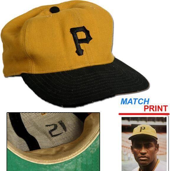 clemente game worn cap