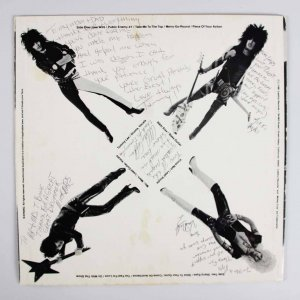 1981 Motley Crue Signed & Inscribed Too Fast For Love Leathur Records  Rare 1ST PRESSING Record (Family Letter)