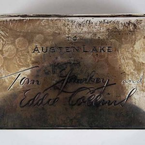 Tom Yawkey and Eddie Collins Silver Cigarette Case Gift To Austen Lake