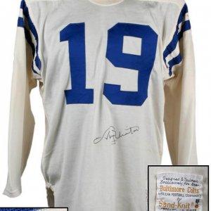 unitas game worn jersey