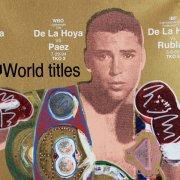 Oscar De La Hoya Signed 36x36 Steve Kaufman Art AP 20/25 - JSA