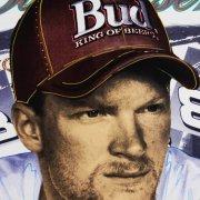 Steve Kaufman Signed 39x42 Canvas Art of Dale Earnhardt, Jr. NASCAR Race Driver