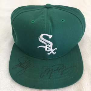 Michael Jordan and John Elway Signed Chicago White Sox Hat PSA