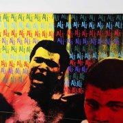Muhammad Ali Signed 54x75 Steve Kaufman Art - JSA