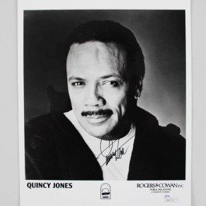 Quincy Jones Signed 8x10 Photo - COA JSA
