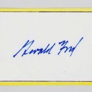 Gerald R. Ford  President Signed 3-1/2 x 2 Card - COA JSA