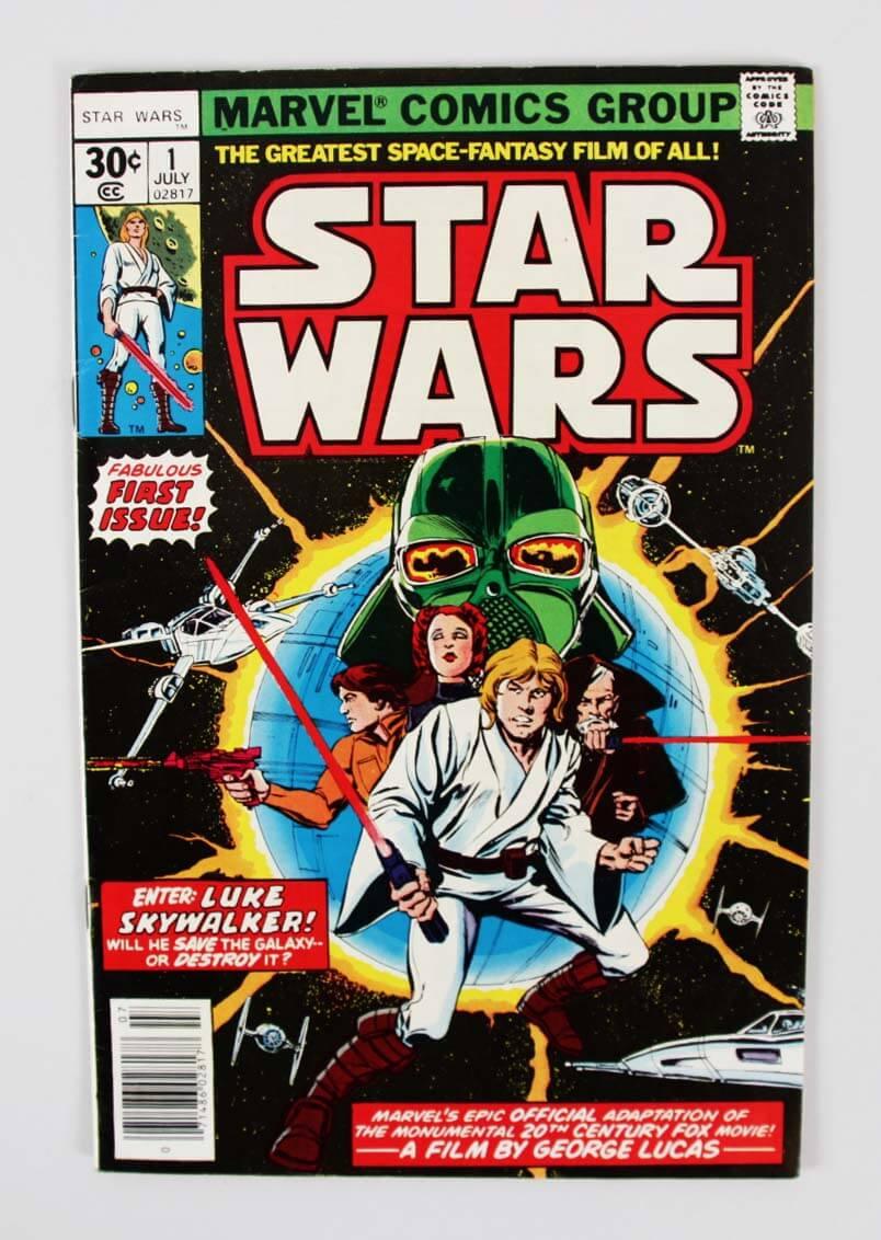 STAR WARS #1 (Marvel Comics 1977) 1st PRINT Original Plastic