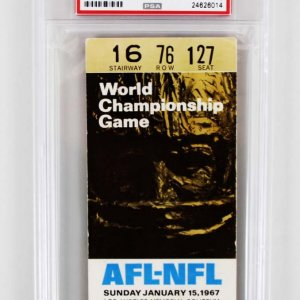 1967 Super Bowl I Ticket Stub - Packers vs. Chiefs (PSA Grade 2 )