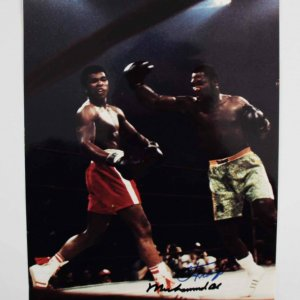 Muhammad Ali & Joe Frazier Signed 8x10 Photo - JSA
