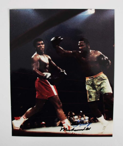 Muhammad Ali & Joe Frazier Signed 8x10 Photo - JSA