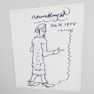 Dame Laura Knight Signed Inscribed Rare Authentic, Original  Sketch