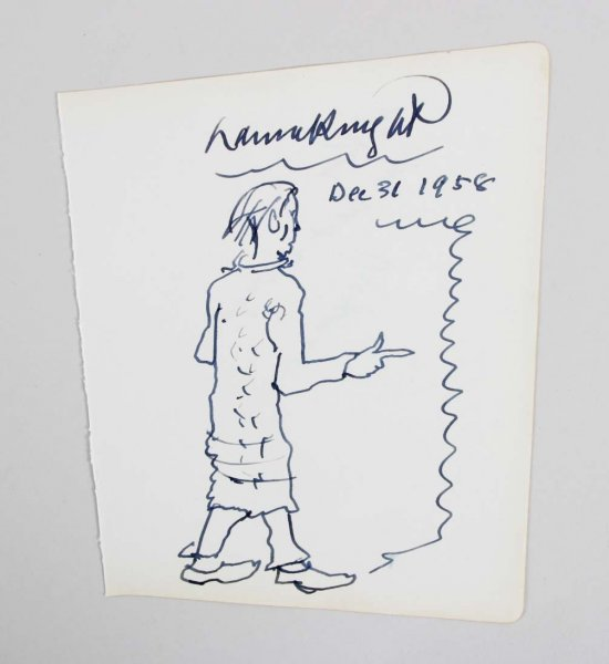 Dame Laura Knight Signed Inscribed Rare Authentic, Original Sketch - JSA