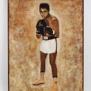 Muhammad Ali Oil Painting Earl Daniels Original 30x38 Display