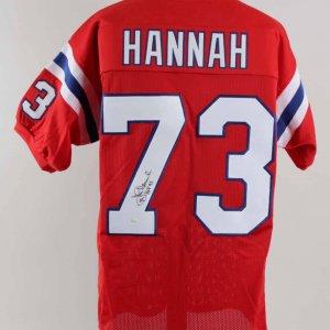 John Hannah Signed New England Patriots Jersey - COA JSA