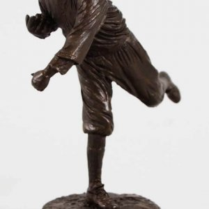 Babe Ruth Statue Bronze Pitching with Boston Red Sox by Palmer Murphy 1994