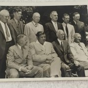 1939 Original Hall of Fame Induction Wire Photo Wagner, Alexander, Speaker, Lajoie, Sisler, Johnson, Collins, Ruth, Mack and Young