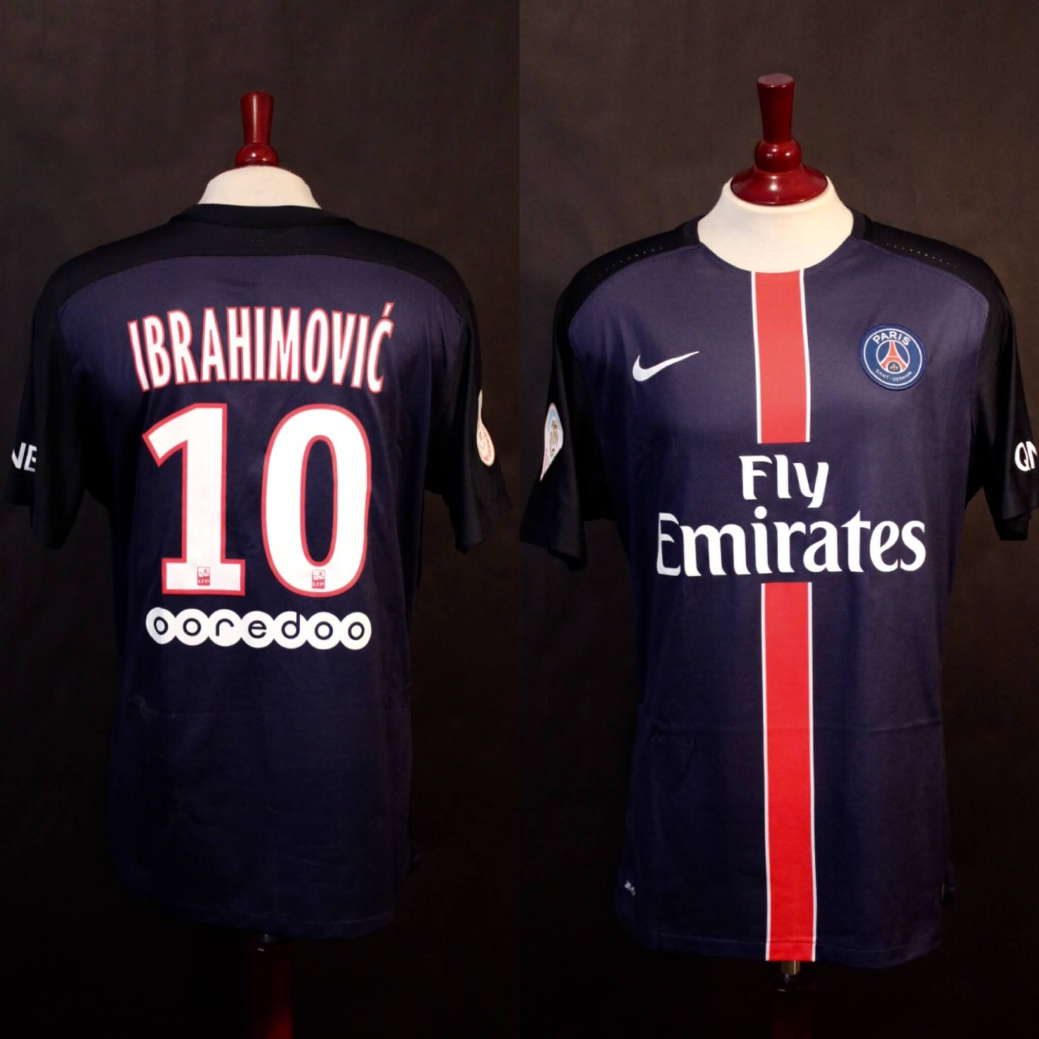 the best attitude d653a 79031 A Zlatan Ibrahimovic Game-Used & Unwashed #10 Paris Saint Germain Home  Shirt. 1/31/2016 PSG v. St Etienne (2-0).