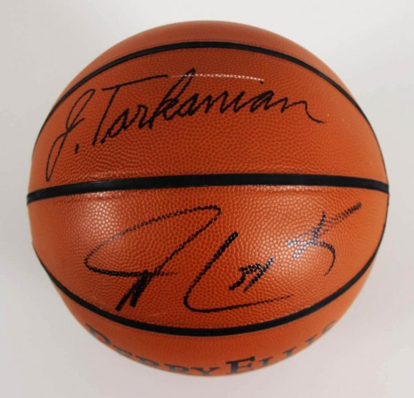 Jerry Tarkanian & Shawn Marion Signed Perry Ellis Basketball - JSA