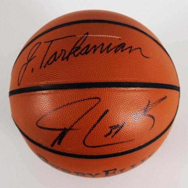 Jerry Tarkanian & Shawn Marion Signed Perry Ellis Basketball - JSA