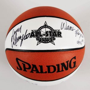 All-Star Weekend Multi-Signed Official Basketball - 6 Sigs. Jerry Tarkanian etc. - JSA