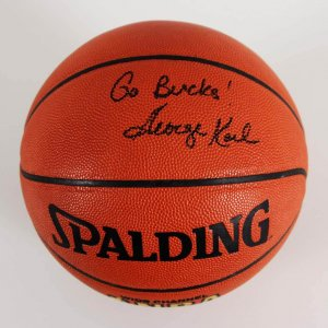 "George Karl Signed Milwaukee Bucks Basketball Inscribed ""Go Bucks!"" - JSA"