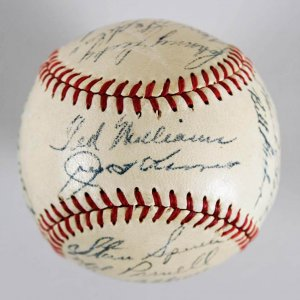 1948 Boston Red Sox Team-Signed Baseball - Ted Williams (CH)