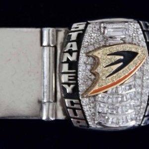 2007 Stanley Cup Champs Anaheim Ducks Salesman Sample Owners Money Clip