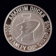 2007 Stanley Cup Champions Anaheim Ducks 14g Silver Coin LE 39/500