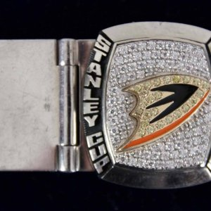 2007 Stanley Cup Champs Anaheim Ducks Salesman Sample Players Money Clip (925 Sterling Silver)