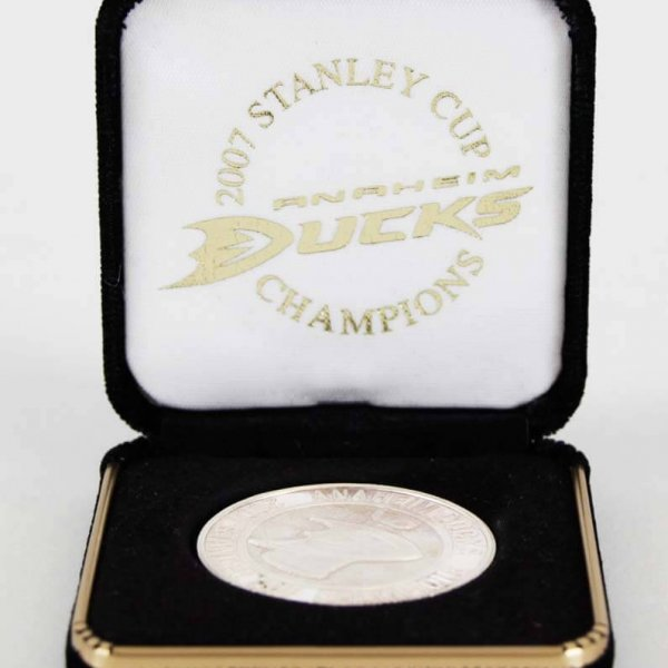 2007 Stanley Cup Champions Anaheim Ducks 14g Silver Coin LE 100/500