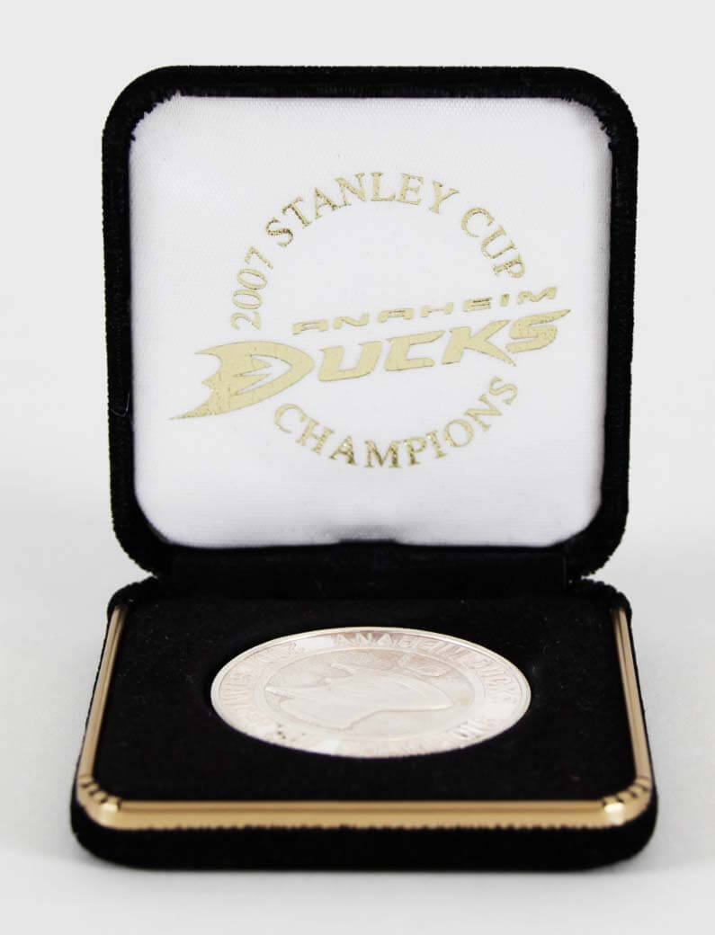 2007 Anaheim Ducks Silver Coin Stanley Cup Champs